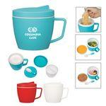 Logo Branded 14 Oz. Thermal Mug With Spoon And Fork Set