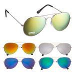 Promotional Color Mirrored Aviator Sunglasses