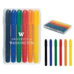 Custom Printed 6-Piece Retractable Crayons In Case