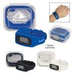 Logo Printed Digital LCD Pedometer Watch In Case