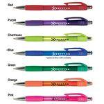 Krypton Translucent Pen w/ Matching Gripper Custom Imprinted