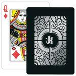 Baronet Black Poker Size Playing Cards w/Regular Face Custom Personalized