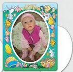 Magnet 30 Mil - Oval Center Easter Picture Frame - Full Color Custom Printed