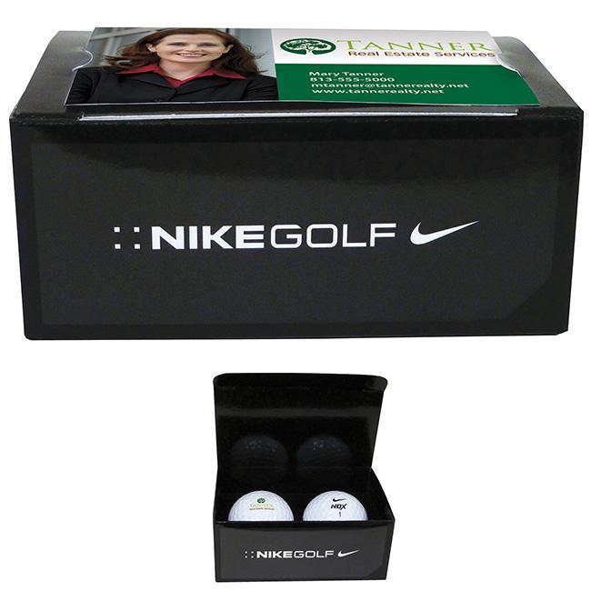 Nike 2 Ball Business Card Box Golf Balls Custom Branded ...