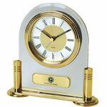 Clock - Brass & Acrylic Desk Alarm Clock Custom Etched