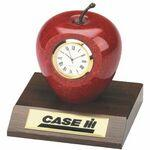 Laser-etched Clock - Genuine Marble Apple Clock