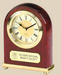 Clock - Arched Piano Wood Desk Alarm Clock Custom Etched