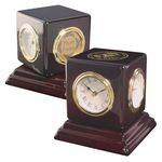 Clock - Revolving Multi-Function Desk Clock Custom Etched