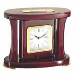 Clock - Swivel Piano Wood Desk Clock Logo Imprinted