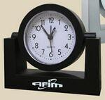 Clock - Black Swivel Alarm Clock Logo Printed