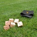 Oversize Wooden Yard Dice Game Logo Branded