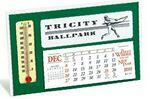 Window Premier Desk Calendar with Thermometer Logo Printed