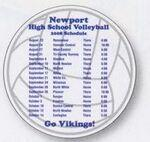 Volleyball Sports Magnet Custom Printed