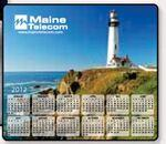 Custom Printed Stock Art Background Hard Surface Calendar Mouse Pads - Lighthouse