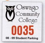 "Custom Imprinted Square White Vinyl Outside Parking Permit Decal (3""x3"")"