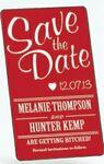"Save The Date Rectangle Magnets (2""x3 1/2"") Custom Printed"
