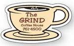 "Promotional Cup & Saucer 0.02"" Thick Vinyl Die Cut Medium Stock Magnet"