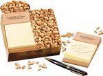 Logo Branded Beech Post-it® Note Holder with Choice Virginia Peanuts