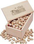 Jumbo California Pistachios in Wooden Collector's Box Logo Branded