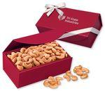 Extra Fancy Jumbo Cashews in Red Magnetic Closure Gift Box Logo Branded