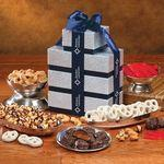 Silver & Navy Tower of Treats Custom Imprinted