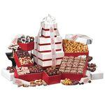 """Park Avenue"" Ultimate Tower of Treats in Red Custom Imprinted"