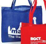 "Custom Imprinted X-Large Non Woven Tote Bag - 20""x6""x16"" Gusset"