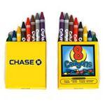 8 Pack Crayons Logo Branded