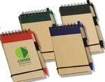 Think Green Recycled Notepad & Pen Logo Branded