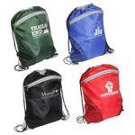 Cyclone Mesh Curve Drawstring Backpack Custom Embroidered