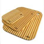 3 Piece Striped Bamboo Cutting Board Set Logo Branded