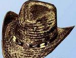 Hand Painted Straw Western Hat Branded