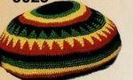 Novelty Cotton Crochet Rasta Tam Hat Logo Embroidered