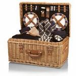 Custom Printed Windsor Luxury Picnic Basket w/Deluxe Service for Four