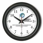 "12"" Plastic Analog Wall Clock with Hour/ Minute & Second Hands Custom Imprinted"