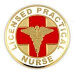 Licensed Practical Nurse Pin Logo Printed