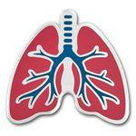 Custom Imprinted Lungs Lapel Pin