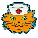 Cat Nurse Pin Logo Printed