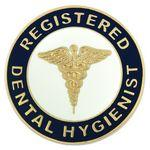 Registered Dental Hygienist Pin Logo Printed