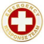 Logo Printed Emergency Response Team Lapel Pin