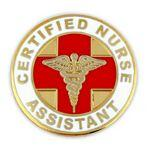 Certified Nurse Assistant Pin Logo Printed