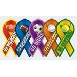 "Small Awareness Ribbon Magnet (4""x2"") Logo Branded"