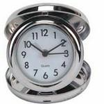 Stainless Steel Travel Alarm Clock (Foldable) Logo Printed
