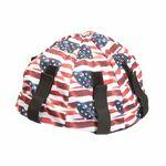 Lester Lid Hard Hat Liner - American Flag Custom Imprinted