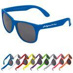 Single Tone Matte Sunglasses Logo Branded