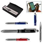 Executive 3-in-1 Metal Pen / Stylus w/ LED Custom Engraved