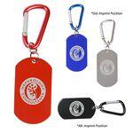 Dog Tag Carabiner Custom Imprinted