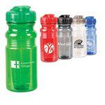 20 Oz. Translucent Sport Bottle w/ Snap Cap Custom Printed