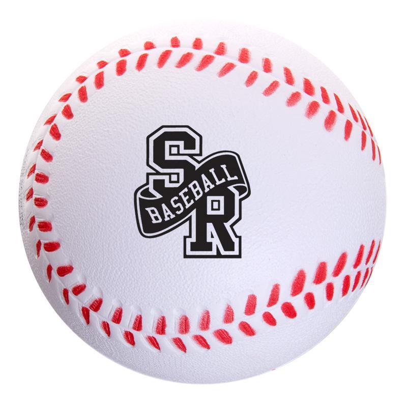 Logo Branded Baseball Stress Ball - BRAVA