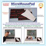 "MicroMousePad- Mouse Pad/ Microfiber Screen Cleaner/ Keyboard Cover/ Screen Protector (8""x6"")"
